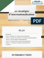 Les Stratégies d'Internationalisation