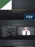 El Grave Defecto