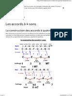 L'harmonie - Les accords à 4 sons