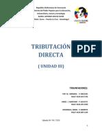 UNIDAD III Tributación Directa ....