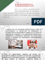 D.I  CLASE 6 Cómo se diagnostica la Discapacidad Intelectual (1)