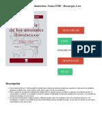 DESCARGAR LEER DOWNLOAD READ. Descripción. Anatomía de los animales domésticos. Tomo I PDF - Descargar, Leer ENGLISH VERSION
