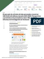 El mercado de artículos de lujo personales crecerá en USD 33,53 mil millones durante 2021-2025 _ Perspectivas y pronósticos de proveedores clave _ Más de 17000 informes de investigación de Technavio