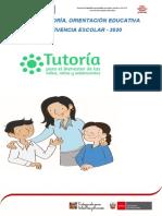 Plan de Tutoría, Orientación Educativa - 2020- f.t.a.