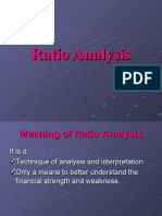 ratio analysis (R)