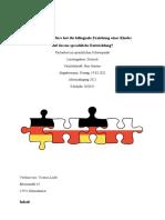 Facharbeit Victoria_bilinguale Erziehung_sprachliche Entwicklung