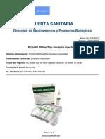 Alerta Invima - Propofol 200mg_20gr emulsión inyectable