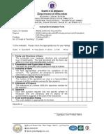 Instrument Validation Form