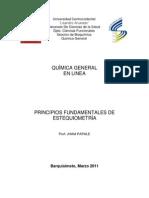 PRINCIPIOS FUNDAMENTALES DE ESTEQUIOMETRIA