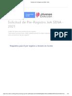 Solicitud de Pre-Registro JeA SENA - 2021