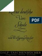 (Dalp-Taschenbücher 306) Wolfgang Kayser - Kleine deutsche Versschule-Francke Verlag (1954)