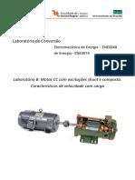 Laboratório B Motor CC shunt e compound com carga