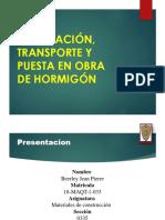 FABRICACIÓN, TRANSPORTE Y PUESTA EN OBRA DE HORMIGÓN.