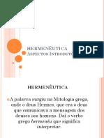 1 - HERMENÊUTICA - ASPECTOS INTRODUTÓRIOS