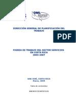 Fuerza de trabajo del sector servicios 2003-2007