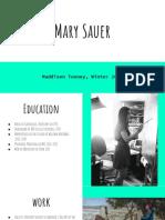 Mary Sauer Presentation