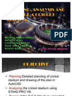 plan and design of cricket stadium