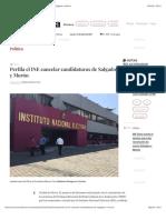 La Jornada - Perfila el INE cancelar candidaturas de Salgado y Morón