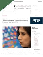 """La Jornada - Vacunar contra Covid, """"prioridad absoluta"""" en economías emergentes"""