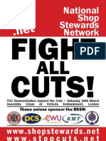 NSSN Flyer advertising 26 March TUC demonstration