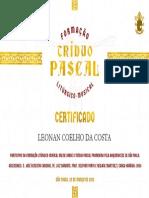 Certificado Tríduo - Leonan Coelho da Costa