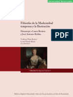 Platas Benítez-Toledo Martín - Filosofas de La Modernidad Temprana y La Ilustracion