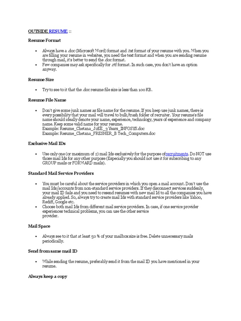 Cute Proper Resume File Name Images Example Resume Ideas
