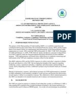 EPA - USCG MOU - Vessel General Permit enforcement - 2011