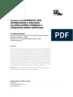 Artigo BARBOSA Lia Pinheiro, 2019. Estética da resistência_arte sentipensante e educação na práxis política indígena e camponesa Latino-Americana