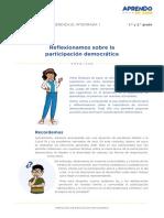 Exp1 Ebr Secundaria 1 y 2 Exploramosyaprendemos Act01 Reflexionamossobredemocracia