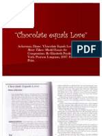 Chocolate Equals Love