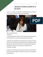 La Cámara sobreseyó a Cristina y Kicillof en la causa del dólar futuro - Modo de lectura