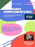 2° ANO FUND - ATIVIDADES COMPLEMENTARES - 1 BI