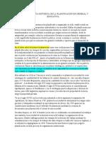 Ensayo La Reseña Historica de La Planificacion en General y Educativa