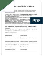 Qualitative & Quantitative Reasearch