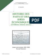 Histoire Des Faits & Idées Économiques