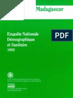 Enquête Nationale Démographique et Sanitaire 1992 (