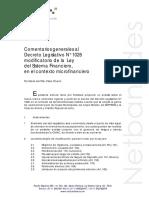 130325053758comentarios generales al decreto legislativo n° 1028 modificatorio de la  ley del sistema financiero, en el contexto microfinanciero