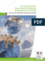Les Acteurs Locaux Et Leurs Projets Territoriaux de Developpement Durable Aout 2013 Bd