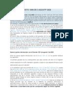 RESUMEN DECRETO 1099 DE 3 AGOSTP 2020