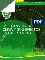 1 IMPORTANCIA DEL CLIMA Y SUS EFECTOS EN LAS PLANTAS.