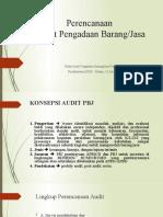 Perencanaan Audit PBJ