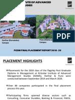 KIAMS PLACEMENT REPORT 2018-20 BATCH (1)