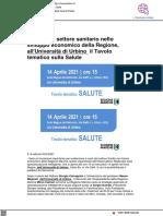 Il ruolo del settore sanitario nello sviluppo della Regione Marche - Vivereurbino.it, 13 aprile 2021