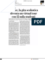 Firenze, la gita scolastica diventa un virtual tour con 12mila studenti - La Repubblica del 14 aprile 2021