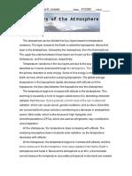Layers of Atmosphere Worksheet Part II