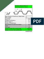 Lead Screw Calculator - Metric - ISO 2904-1977