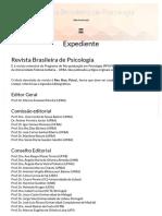 Expediente _ Revista Brasileira de Psicologia