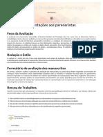 Orientações aos pareceristas _ Revista Brasileira de Psicologia