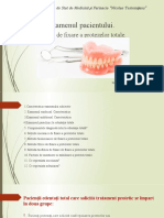 Examenul Clinic.diagnostic. proteze totale